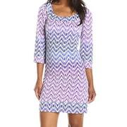 Jessica Simpson NEW Purple Printed Women's Size 6 Scoop Neck Shift Dress $98