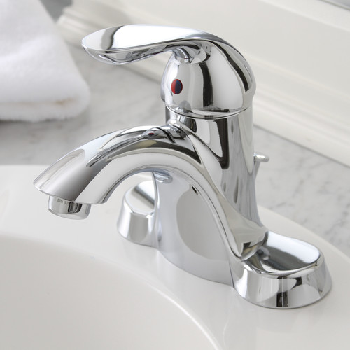 Premier Faucet Waterfront Single Handle Bathroom Faucet with Optional Pop-Up Drain