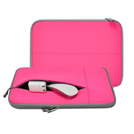Unik Case - Neoprene Hot Pink Zipper Laptop Sleeve Bag Cover for All 13