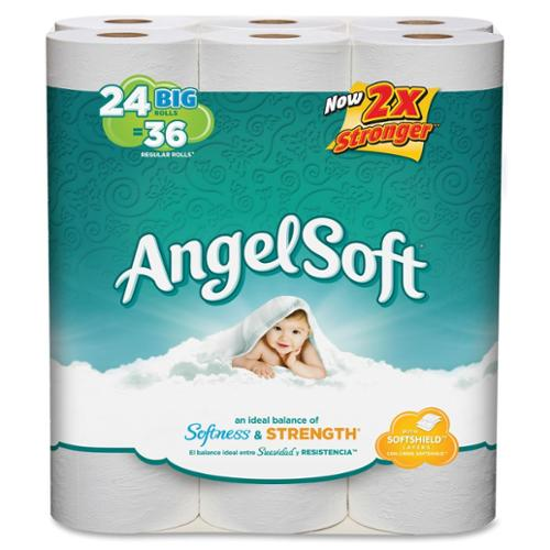 Angel Soft Ps 24 Roll Bathroom Tissue - 2 Ply - 198 Sheet - 96 / Carton - White (77239ct)