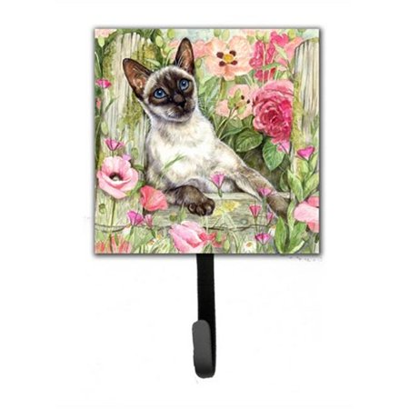 Ring Holder Siamese Cat (Siamese Cat in the Roses Leash or Key Holder)