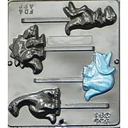 291 Dinosaur Assortment Lollipop Chocolate Candy Mold