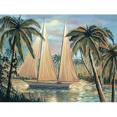 "Trademark Fine Art ""Floating At Bay"" Canvas Art by Frank Walcott"
