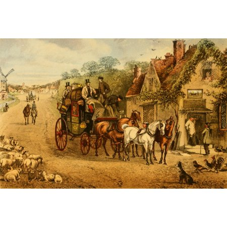 Henry Stock - Down the Road 1875 Stopped for rum & milk Canvas Art - Henry Alken (24 x 36)