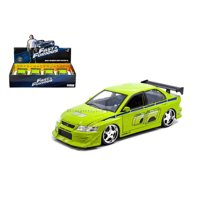 JADA 1:24 DISPLAY - FAST & FURIOUS - BRIAN'S MITSUBISHI LANCER EVOLUTION VII (GREEN) 99794 WITHOUT RETAIL BOX