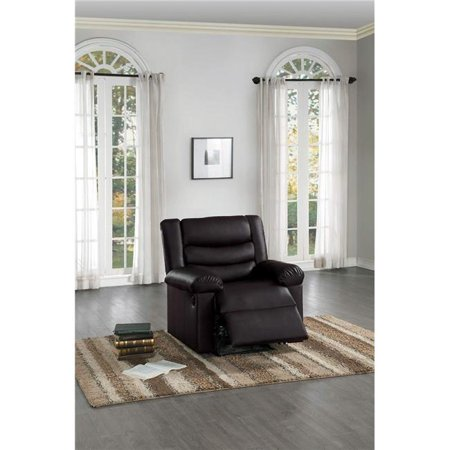 Home Elegance 8237PU-1PW 40 x 36 x 38 in. Ridder Power Reclining Chair - Dark