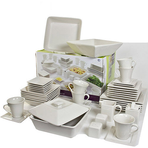 Image 2 of 2  sc 1 st  Walmart & 10 Strawberry Street Nova Square Banquet 45-Piece Dinnerware Set ...