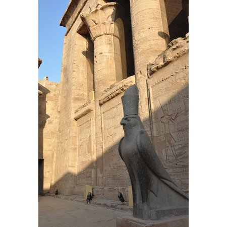 Peel-n-Stick Poster of Hieroglyphs Egyptian Temple Pharaoh Temple Egypt Poster 24x16 Adhesive Sticker Poster - Egyptian Pharo
