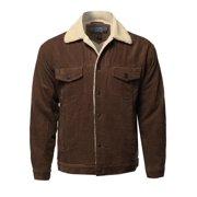 Men's Solid Corduroy Sherpa Lining Western Style Jacket