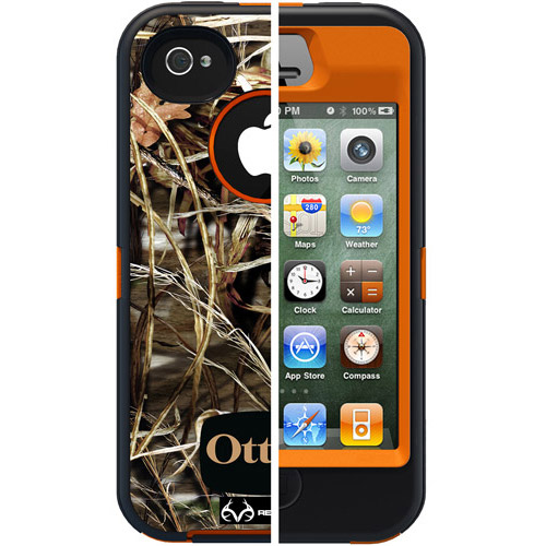 OtterBox Defender Series f/iPhone�� 4/4S - Blaze Orange/Max4HD Camo-by OtterBox