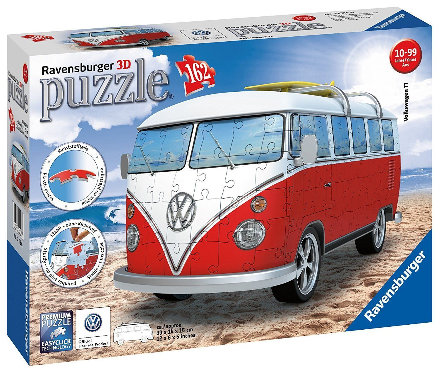 VW Bus T1 162 pcs. 3D Jigsaw Puzzles by Ravensburger (12516) by Ravensburger