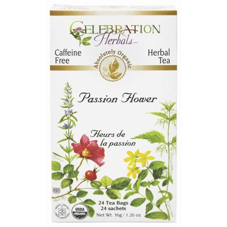 Celebration Herbals Passion Flower Herbal Tea Bags, 24 count, (Pack of 3)