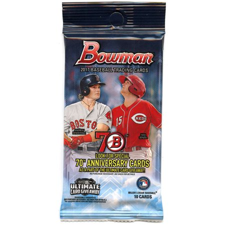 Mlb 2017 Bowman Baseball Cards Trading Card Retail Pack 10 Cards