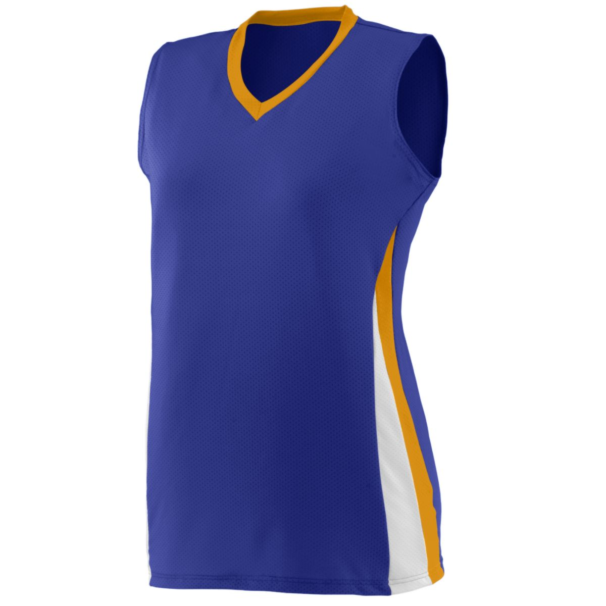 Augusta Ladies Tornado Jersey Pu/Gd/Wh M - image 1 of 1