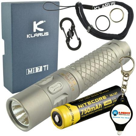 Klarus - Klarus Mi7 Keychain LED Flashlight 700 Lumens with 2 Extra  Energizer AA Batteries and LightJunction Keychain Light - Walmart.com aec650fdf