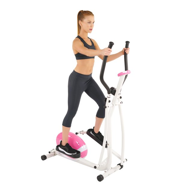 Sunny Health & Fitness P8300 Pink Magnetic Portable Elliptical Trainer