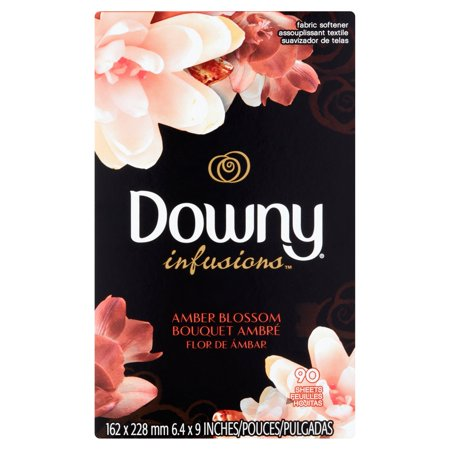 Downy Infusion Amber Blossom Fabric Softener, 90 sheets