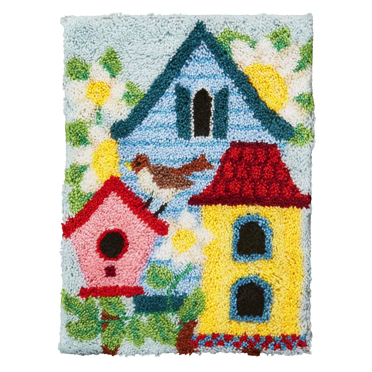 Herrschners® Birdhous Garden Latch Hook Kit