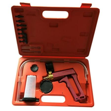 Ktaxon Brass Vacuum Brake Bleeder Hand Held Pump Tester Kit Adapters W/ Case (Vacuum Pump Brake Bleed)
