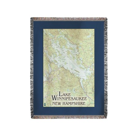 60x80 Super Plush Throw (Lake Winnipesaukee, New Hampshire - No Icons - Lantern Press Artwork (60x80 Woven Chenille Yarn)