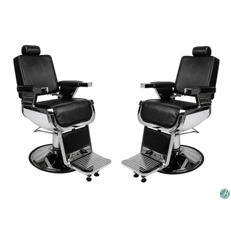 SET OF 2, LINCOLN JR Barber Chair Heavy Duty Hydraulic Barber Chair Ideal for Teenagers, Kids Barber Shop, Styling Stations
