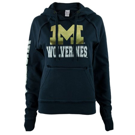 - Michigan Wolverines - Foil Logo Juniors Pullover Hoodie