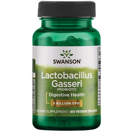 Naturally 60 Vegetable Capsules - Swanson Lactobacillus Gasseri Probiotic Vegetable Capsules, 3 Billion CFU, 60 Ct