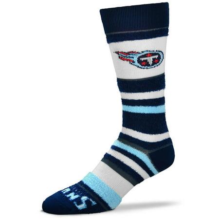 Tennessee Titans For Bare Feet Women's Soft Stripe Quarter-Length Socks - No Size