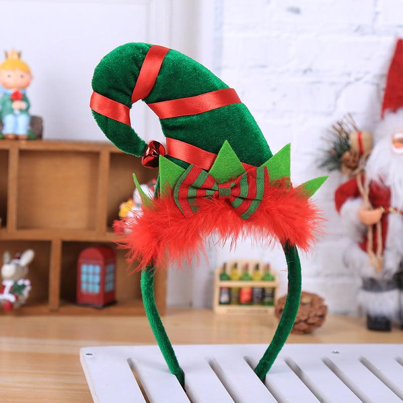 Hot Christmas Headband Santa Xmas Party Decor Double Hair Band Clasp Head Hoop