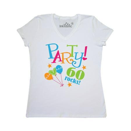 60th Birthday Party Gift Womens V Neck T Shirt