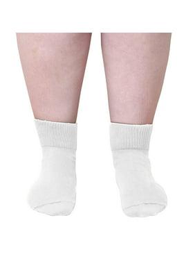 dcda531940 Product Image Extra Wide Socks - Women Medical Quarter Socks -White