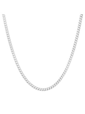 "Authentic Solid Sterling Silver 2MM Cuban Curb Link .925 ITProLux Necklace Chains 16"" - 30"", Silver Chain for Men & Women, Made In Italy, Next Level Jewelry"