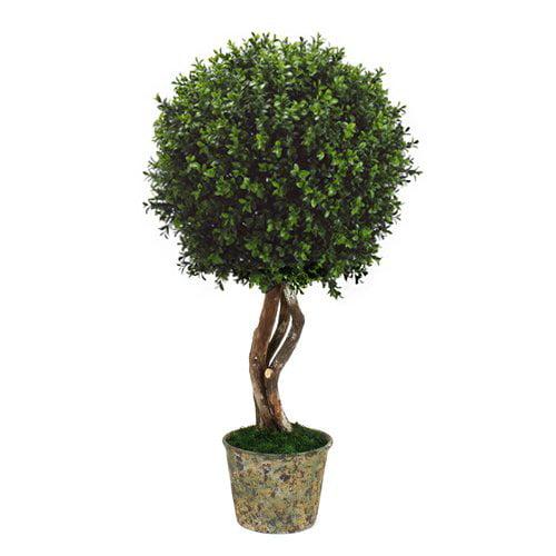 Fleur De Lis Living Desktop Boxwood Topiary