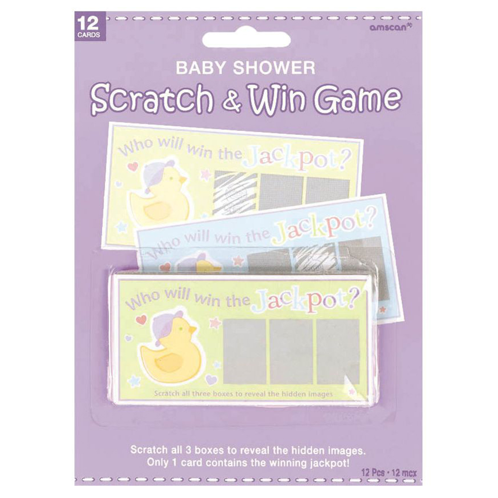 Baby Shower Scratch Off Game (Each) - Party Supplies