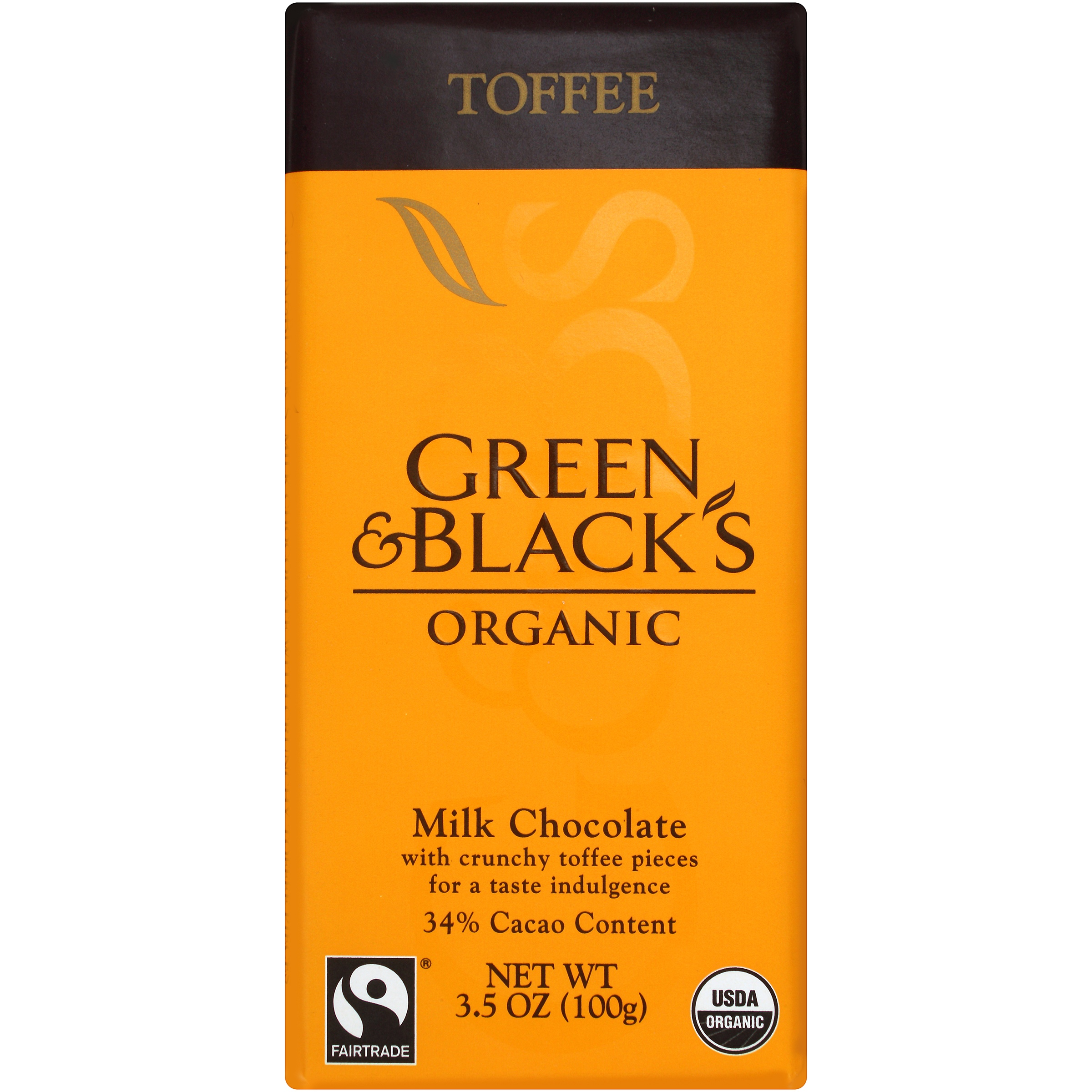 Green & Black's Organic Toffee Milk Chocolate 3.5 oz. Bar by Mondelez Global LLC
