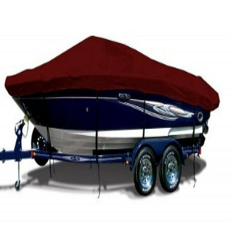 Burgundy Exact Fit Boat Cover Fitting 1991 1995 Alumacraft 16 Classic Std Dlx Back Troller W Port Troll Mtr O B Models  9 25 Oz  Sunbrella Acrylic