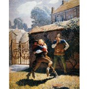 Wyeth Robin Hood 1917 Nrobin Hood Wrestles Will Stuteley At Gamewell Oil On Canvas 1917 By NC Wyeth For An Edition Of Robin Hood Poster Print by Granger Collection