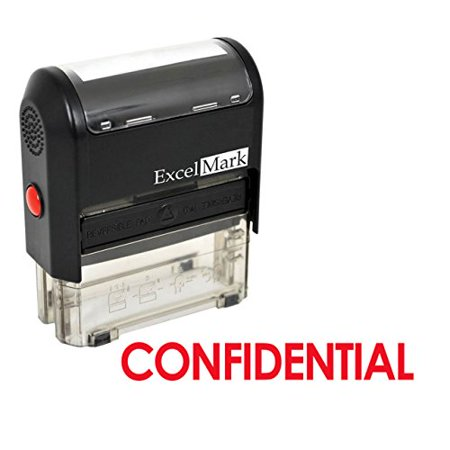 Confidential Ink Stamp - CONFIDENTIAL Self Inking Rubber Stamp - Red Ink (42A1539WEB-R)