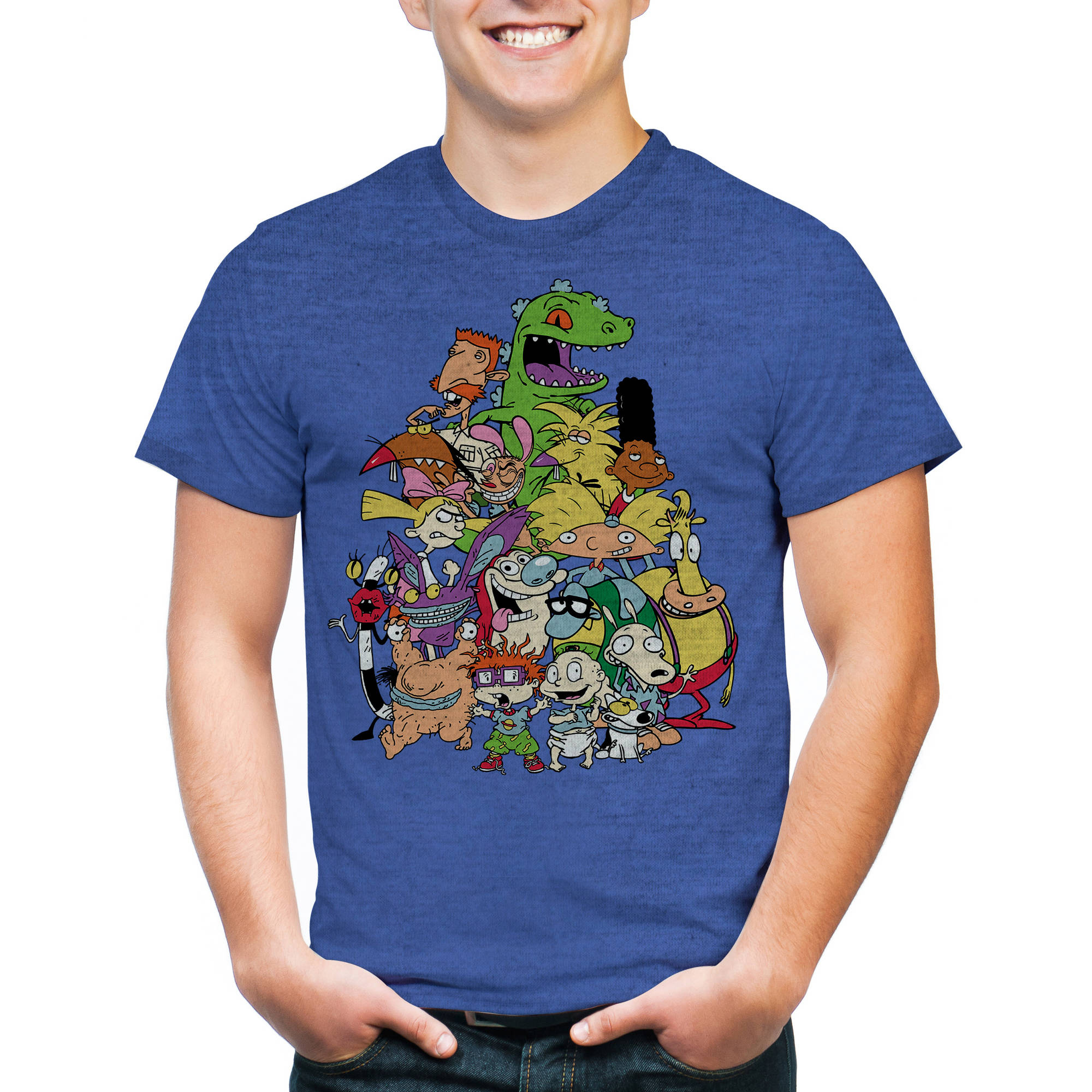 Nickelodeon Nick Group Men's Graphic Short Sleeve Tee