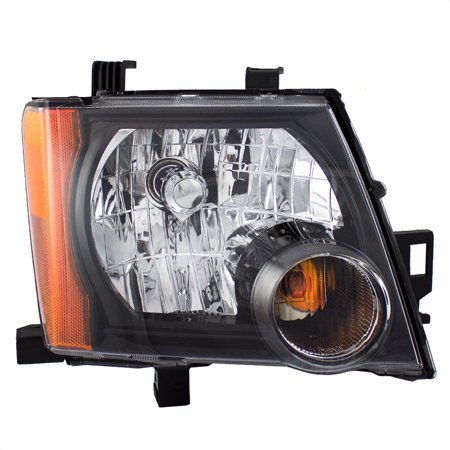 Nissan Xterra Replacement Headlight - BROCK Halogen Combination Headlight Headlamp with Black Bezel Passenger Replacement for 05-15 Nissan Xterra 26010-ZL00A