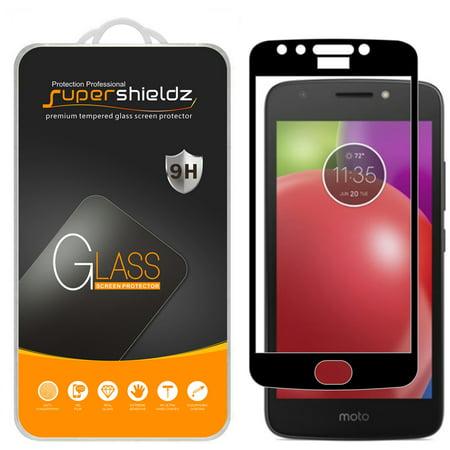 [2-Pack] Supershieldz Motorola Moto E4 / Moto E 4th Generation  [Full Screen Coverage] Tempered Glass Screen Protector, Anti-Scratch, Anti-Fingerprint, Bubble Free (Black Frame) (Ipod 4th Replacement Screen White)