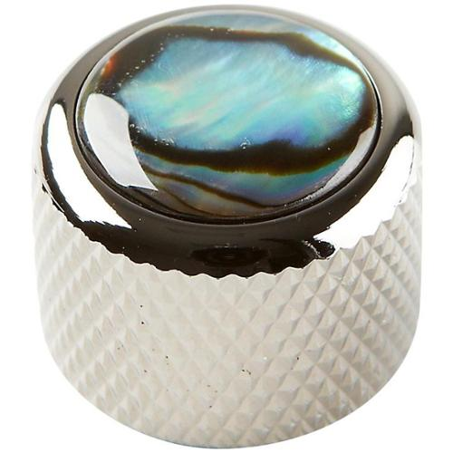 Q Parts Shell Dome Knob Single Black Chrome Natural Abalone by Q Parts