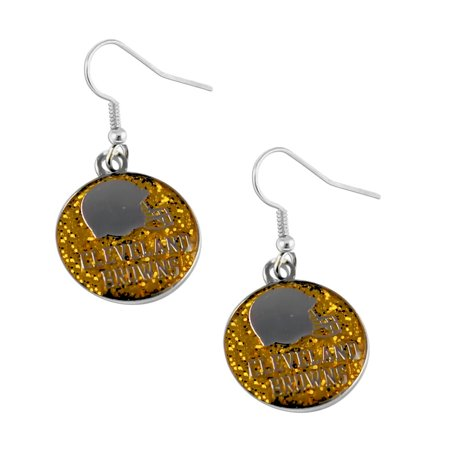 Cleveland Browns Logo Glitter Dangle Earring Set Nfl Charm Gift