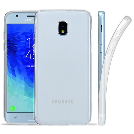the best attitude 26c16 bc1fb Galaxy J3 2018 Case, Transparent Flex Gel TPU Skin Case Slim Cover for  Samsung Galaxy J3 (2018) SM-J337A, J337