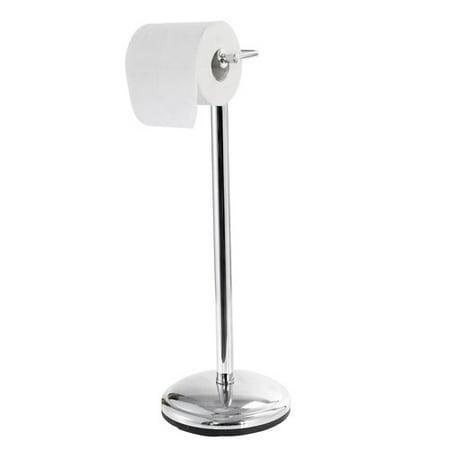 mainstays chrome standing toilet paper holder. Black Bedroom Furniture Sets. Home Design Ideas
