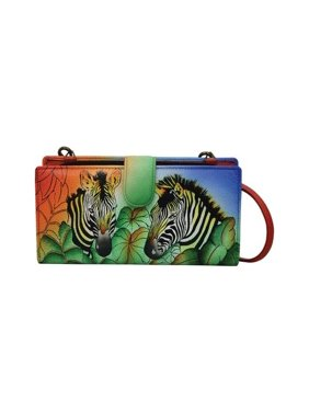 f509ca36ed5e Product Image Women s ANNA by Anuschka Hand Painted Bi-Fold Wallet With  Strap 1856 7.75