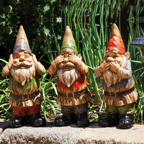 New Creative Wise Gnomes Statue Set (Set of 3) by EVERGREEN ENTERPRISES