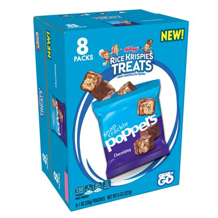 Kellogg's Rice Krispies Treats Poppers Chocolatey Caddy Bars 8 Ct (Rice Krispies Halloween Treats)