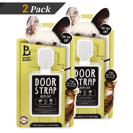 Door Buddy Adjustable Door Latch Grey 2 Pack Bonus Adhesive