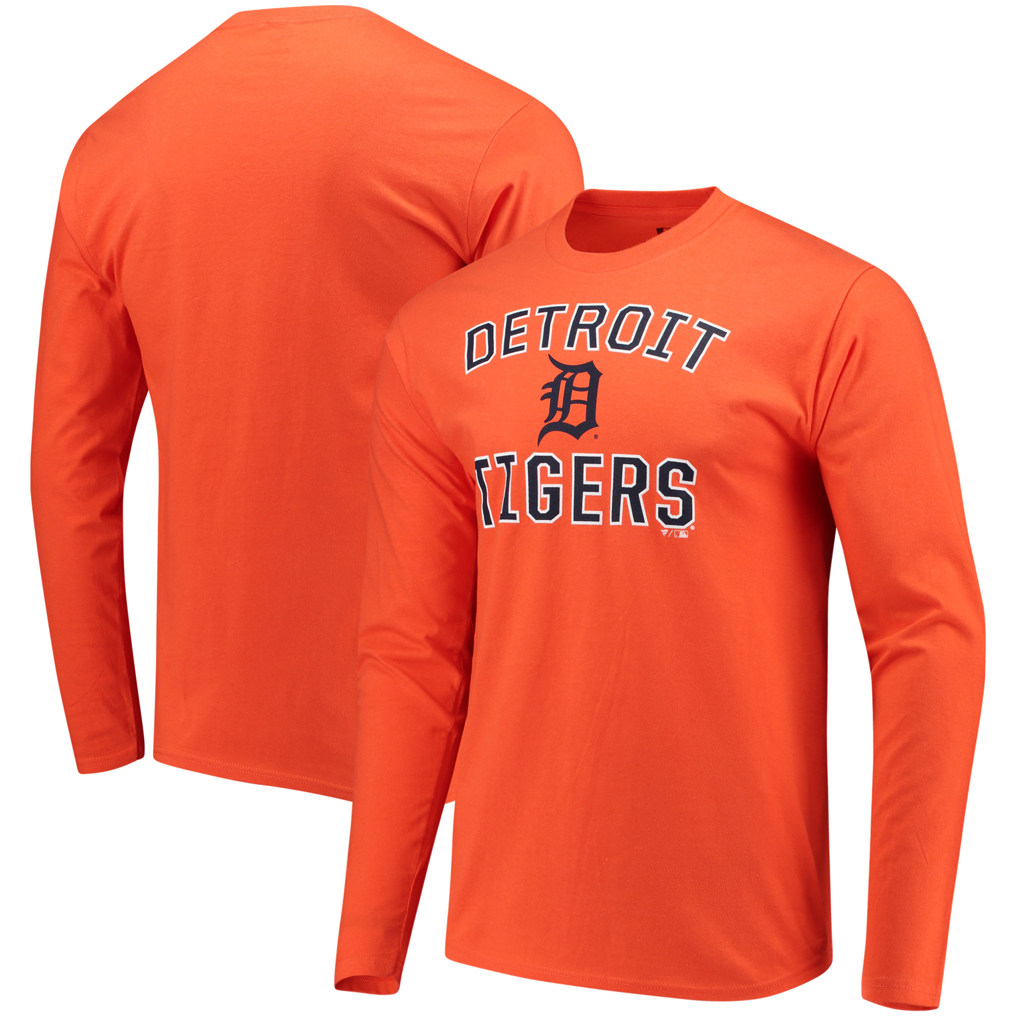 Detroit Tigers Fanatics Branded Victory Arch Long Sleeve T-Shirt - Orange